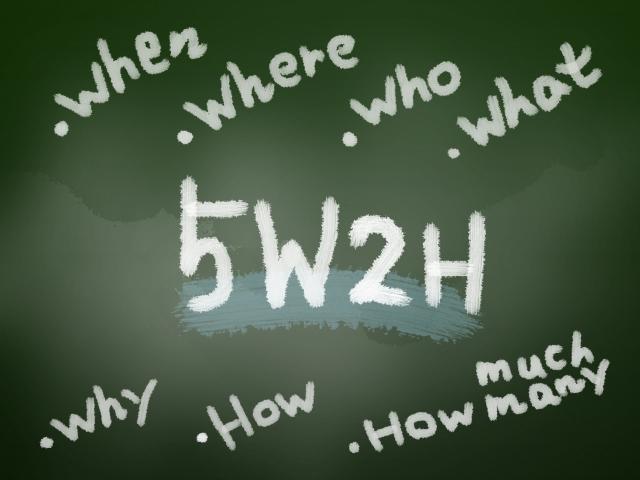 5w1h 順番